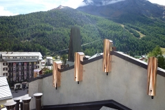 5 Feinstaubfilter OekoTube auf dem Dach